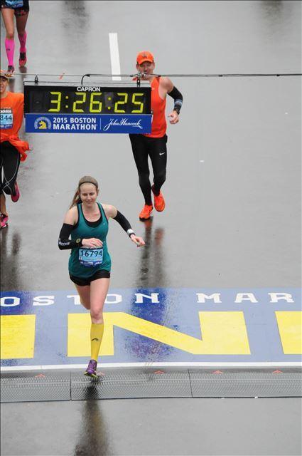 crossing Boston finish line 2